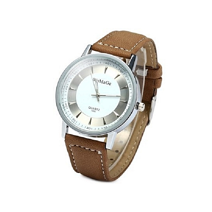 Quartz Hot Sale WoMaGe Lovers' Watch Fashion Casual Wrist Watches Leather Strap Watch Brown