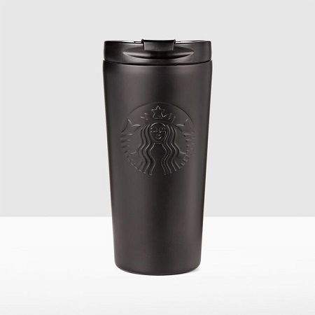 Black Starbucks Etched Stainless Steel Tumbler 16 Ounce - Black