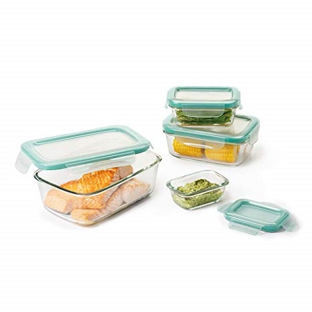 8pc Glass Food Storage Container Set