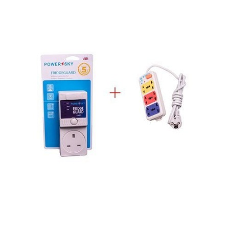 Powersky Fridge Guard + Free 3 way Extension Cable