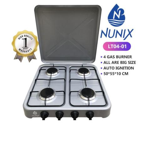 Nunix 4 Gas Burner Table Top Cooker