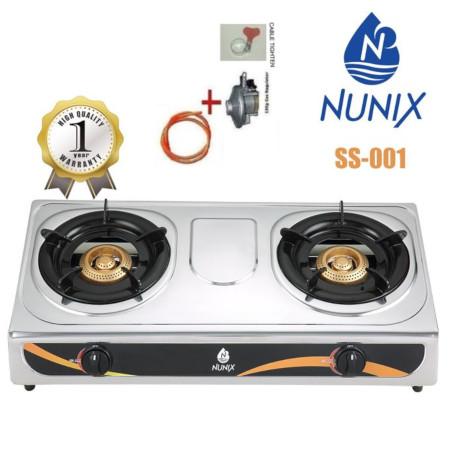 Nunix Table Top Gas Cooker SS001+Cable /6kg Regulator /regulator