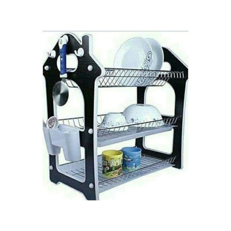 Nunix Three Tier Dish Rack - Black