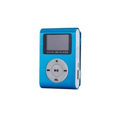 MP3 Player With Display And FM Radio - Blue
