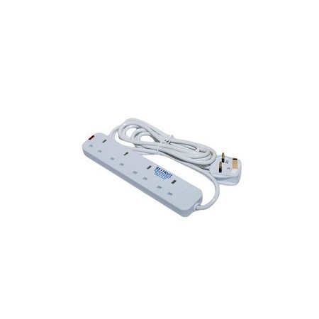 Rk Trust 4 Way Extension Cable - White