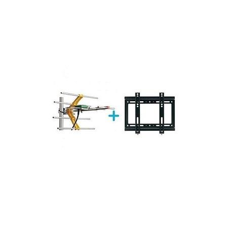 Phelistar Digital TV Aerial-10m Cable +TV Wall Mount Bracket 14 - 42 INCH