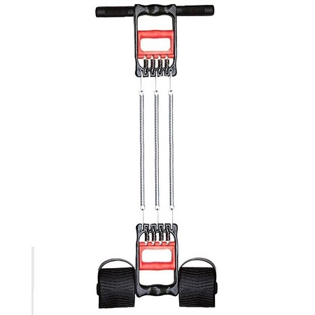 Tummy Trimmer - 3 Spring With Hand Grip Function - Black