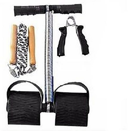 Tummy Trimmer Plus FREE Skipping Rope And Hand Grip Black