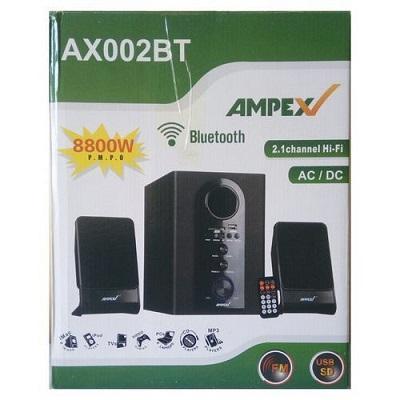 Ampex AX002BT - 2.1 Channel Subwoofer Bluetooth - Black-8800W