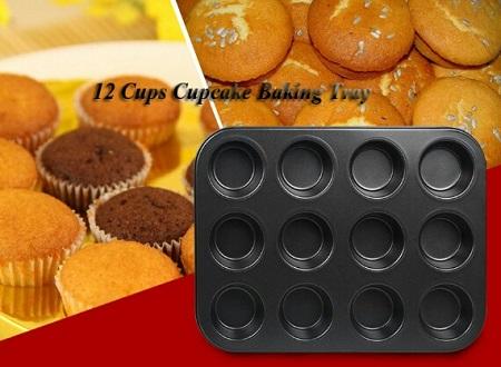 Non stick cup cake/muffin tin black