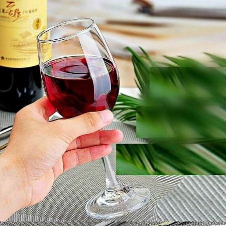 6pcs Red Wine glass set clear