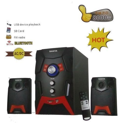 Sanya SY103BT Subwoofer 8000WATTS -BLACK WITH 2SPEAKERS