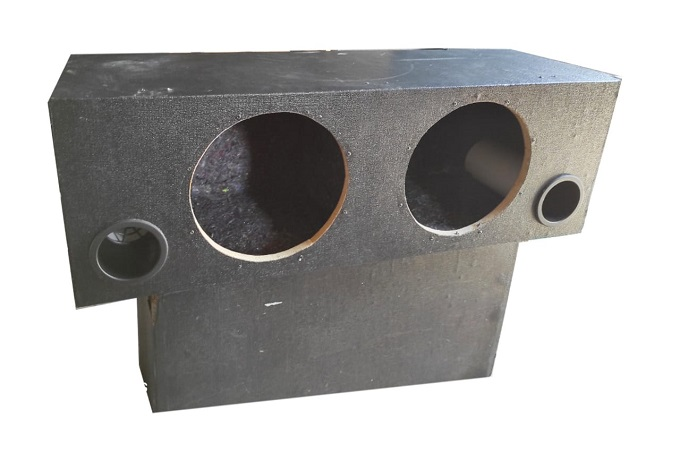 Dual 12 Inch Subwoofer Sub Box Two Speaker.