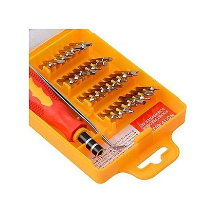 Yellow 32 in 1 Precision Hardware Screw Driver Tool Sets Portable Screwdriver Kit