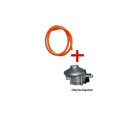 Generic Gas Delivery Pipe 1.5Meter + 13Kg Gas Regulator