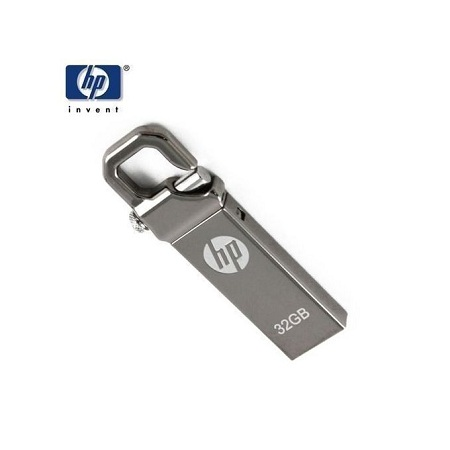 HP 32GB Flash Disk, Drive - Silver.
