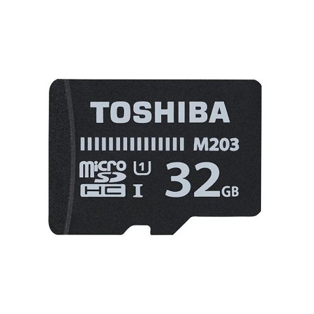 Toshiba Memory Card TF With Adapter - 32GB - Black