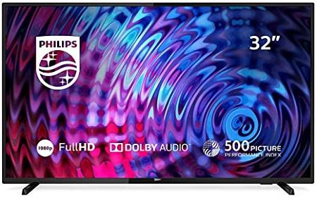 Philips 32 Slim LED TV, DVB-T/T2 - Black