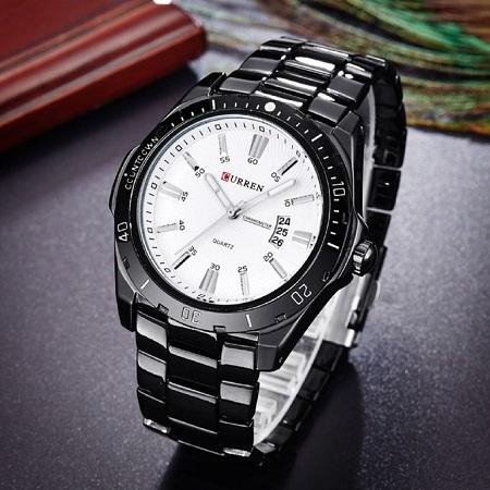Curren Fashion Watch 8110 BW Watches Men's Bracelet Strap