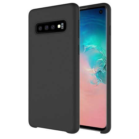 Samsung Silicone Cover For Samsung Galaxy S10  Black