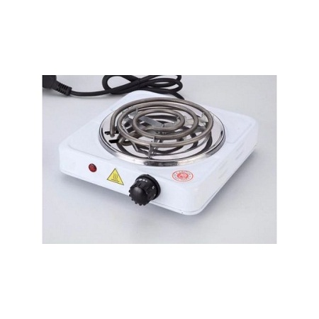 Hot Plate Electric Single Sprial Hotplate Cooker-White