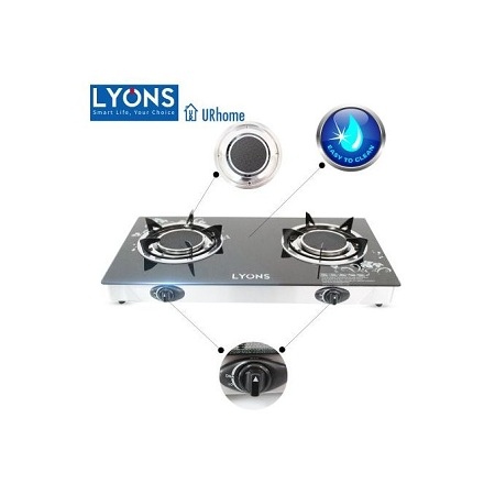 Lyons 2 Burner Glass Top And Infrared Double Burner