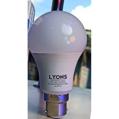 Lyons 7W LED Bright Energy Save Bulb - 5 Pieces