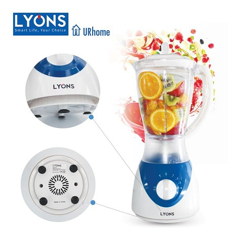 Lyons FY-304-1.5L Professional Blender with Grinding Machine White & Blue.