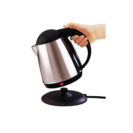 Lyons Cordless Stainless Steel Electric Kettle - 1.8 Litres - Silver & Black