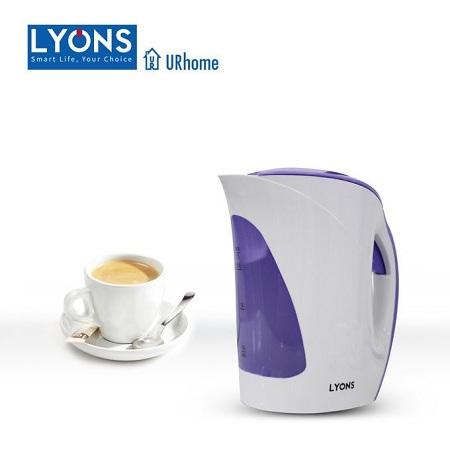 Lyons Electric Kettle Plastic 1.7L Cordless