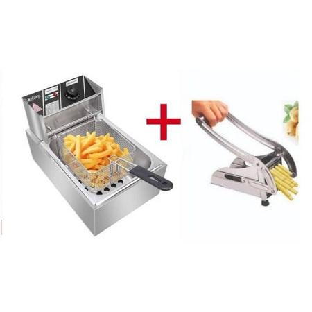 Nunix 6 Ltrs Deep Fryer Plus Free Chips Cutter..