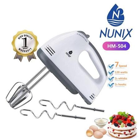 Nunix 7-Speed Portable Hand Mixer