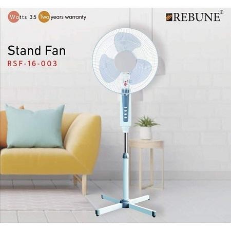 Rebune 16 Inch Stand Fan - White