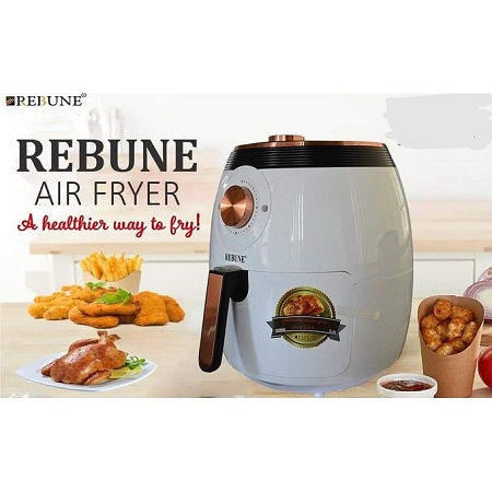 Rebune Air Fryer 5L, 1800W - White