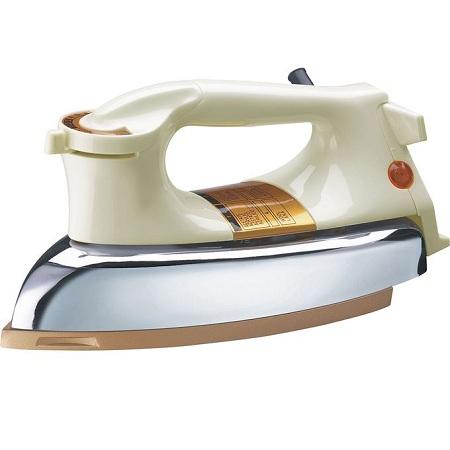Rebune Dry Iron, 1000W - Cream & White