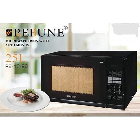 Rebune Microwave Oven, 25L/800W - Black