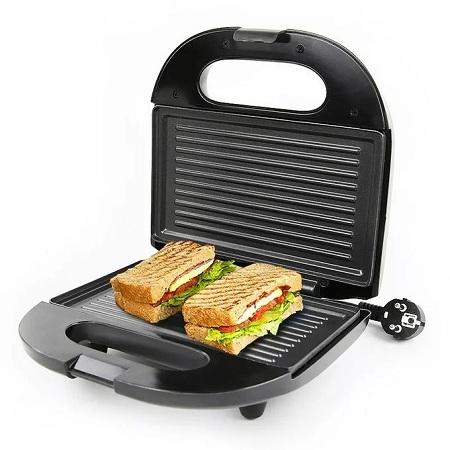 Rebune Sandwich Maker With Grill - Black