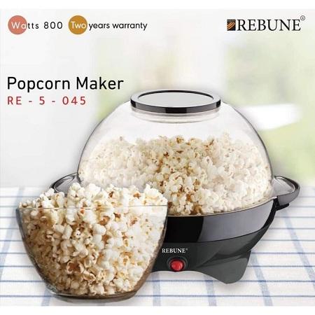 Rebune Stir-Stick Popcorn Maker, 800W - Black