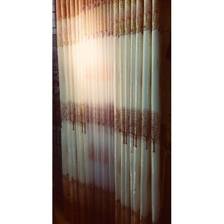 Brown and Off white Curtain