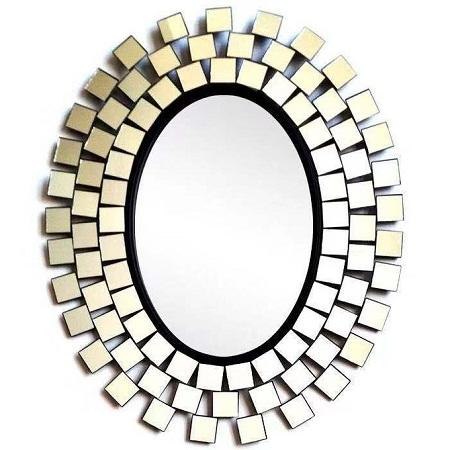 Silver mirror 70/70 Oval