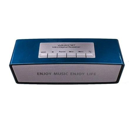 WS-637BT Bluetooth wireless Speaker with FM radio Mem card, USB - Blue