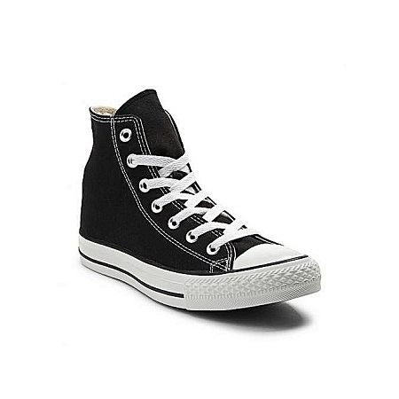 Generic Black And White Laced-Up Unisex Canvas Sneakers Shoes
