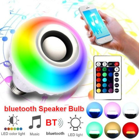 E27 Bluetooth Speaker Bulb 12 5050RGB Beads