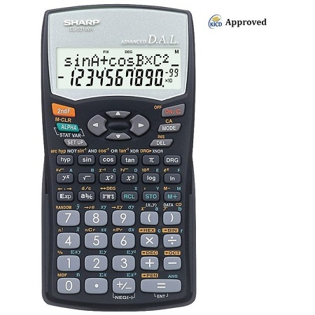 Sharp EL-531WH - 272 Functions Scientific Calculator - Black