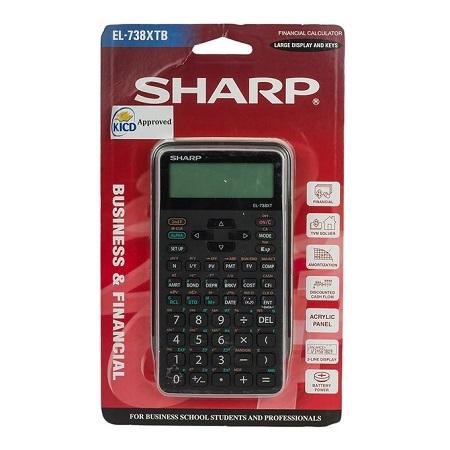 Sharp EL-738XT - Financial Calculator - Black