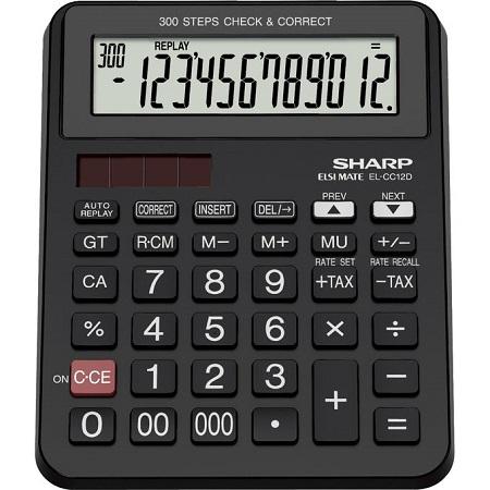 Sharp EL-CC12D - 12 Digit Calculator - Black