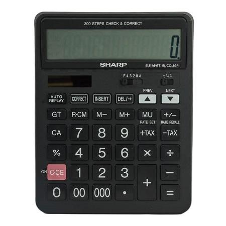 Sharp EL-CC12GP - 12 Digit Calculator - Black