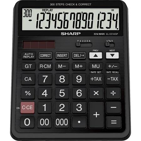 Sharp EL-CC14GP - 14 Digit Calculator - Black