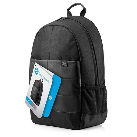 HP 15.6-inch Classic Laptop Backpack (Water Resistance) - Black