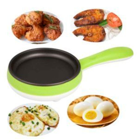 Multi-Function Mini Double Layers 14 Eggs Boiler with Electric Omelette Pan Green